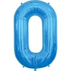 Amazoncom blue letter o 34 inch foil balloon toys games for Foil letter balloons amazon