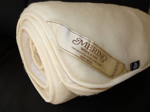 100% Merino Lamswool Underblanket New SINGLE SIZE 450gsm WOOLMARKED