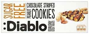 Diablo Sugar Free Peanut and Chocolate Striped Cookies 150 g (Pack of 4)