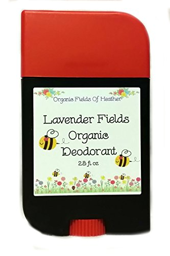 Organic Deodorant - Lush Lavender Scent - 100% Certified Organic Non-Gmo Ingredients - **New & Improved!** For Women - Men - Kids - Will Not Dry Out Your Skin Or Leave A Long Lasting Oily Residue - Will Naturally Heal Your Damaged Skin - Terrific For Ever back-733412