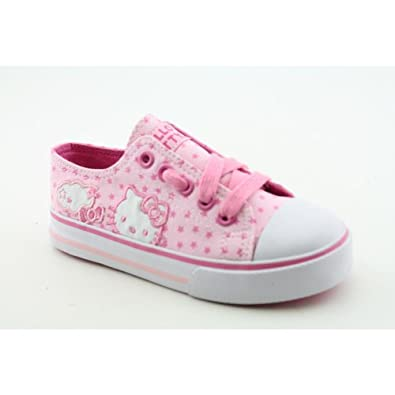 Hello Kitty Hollie Infant Baby Girls SZ 10 Pink Textile Athletic Sneakers Shoes