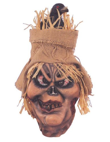 Scary-Masks Scarecrow With Raven Mask Halloween Costume - Most Adults