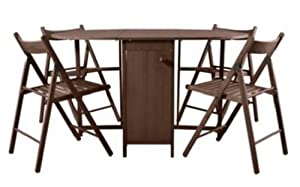 Ex Argos Butterfly Oval Folding Dining Table And 4 Chairs Chocolate Amazon