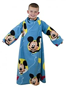 Disney Mickey Mouse Club House Cosy Snuggle Sleeved Fleece Wrap Blanket