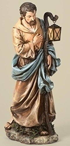 """Iwgac Home Indoor Seasonal Decorative Accessories Holiday Gifts 39"""" Scale Joseph Fig Painted"""