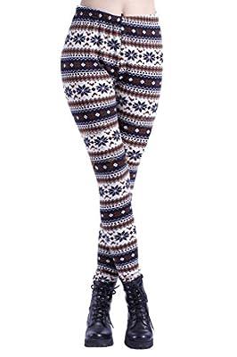 Ninimour- Warm Snow Flake Knitted Tights Christmas Leggings