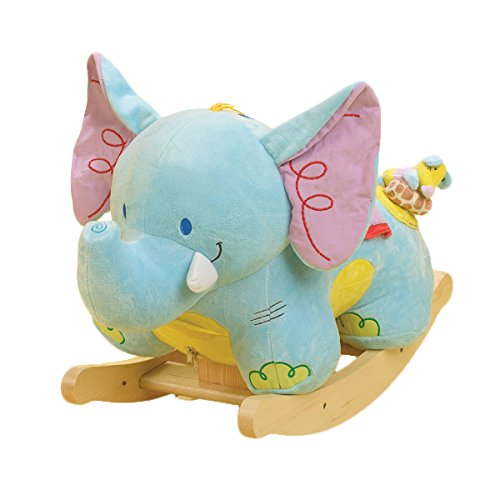 Rockabye Elijah Elephant Rocker, One Size - 1