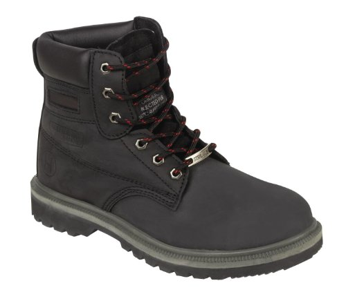 Paroh Men's Beaver 905 S3 Full Pu Rubber Black Safety Boot 905Blk7 7 UK