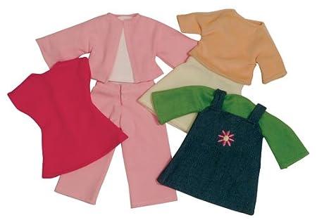 Imajo Lot de vêtements pour poupée de chiffon Vert