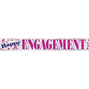 Happy Engagement Foil Banner, 12-Feet by Unique Industries, Inc. - kitchen