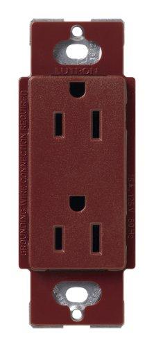 Lutron Scr-15-Mr Satin Colors 15A Electrical Socket Duplex Receptacle, Merlot