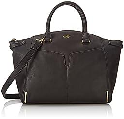 Vince Camuto Asha Satchel Shoulder Bag, Black, One Size