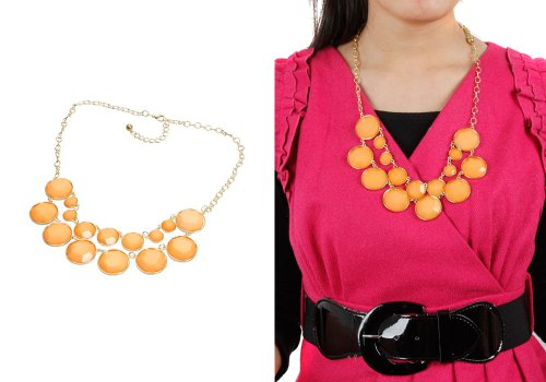 Bundle Monster Womens Fashionable Statement Bubble Bib Stone Chunky Cluster Collar Necklace Design