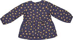 Addyvero Baby Girl's Gathered Dark Blue Dress