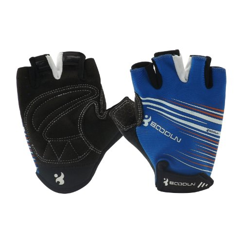 Blue Fashion Bike Bicycle Sports Half Finger Glove with White logo size M pro biker mcs 04 motorcycle racing half finger protective gloves red black size m pair