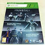 Injustice : Gods Among Us - Zombie Mode - Blackest Night -Arkham City Catwoman/Joker/Batman Skins DLC Code Card XBOX 360 (Injustice)