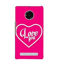 Fiobs Love you Back Case Cover for YU YUNIC