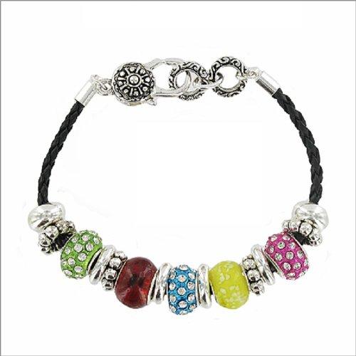 Designer Texture Multi Rondelle Bracelet #035933