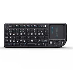 Rii Mini Wireless Keyboard with Mouse Touchpad, Black (mini X1)