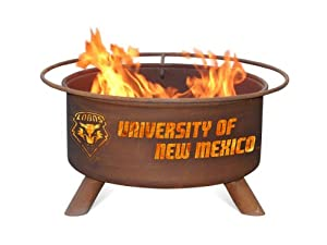 New Mexico Lobos Portable Steel Fire Pit Grill by Patina