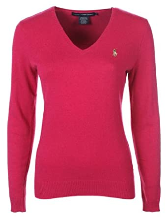 ralph lauren damen pullover kaschmir fuchsia pink gr e xl. Black Bedroom Furniture Sets. Home Design Ideas