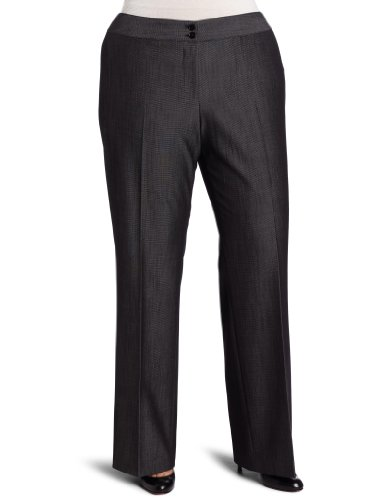 AK Anne Klein Women's Plus Size Texture Suiting Trouser Pant