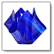 Radiance Glass Vase Finish: Cobalt Navy Blue
