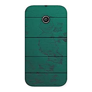 Cute Green Wood Texture Print Back Case Cover for Moto E