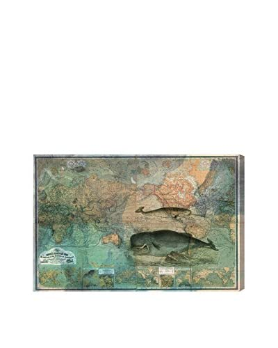 Oliver Gal Hatcher & Ethan 'The World Map 1870 ' Canvas Art