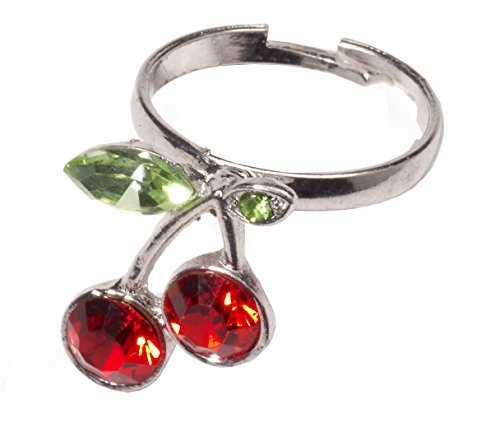 Forum Novelties Women's Retro Rock Novelty Cherry Ring, Multi, One Size