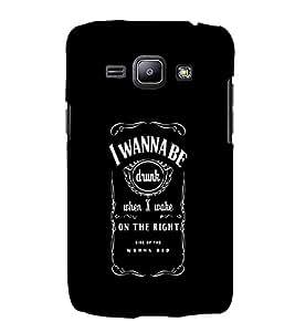 EPICCASE Get Drunk Mobile Back Case Cover For Samsung Galaxy J1 (Designer Case)