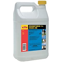 Permethrin 1% Pour-On Kills Lice, Horn FLies, Face Flies on beef cattle Gallon by Martin