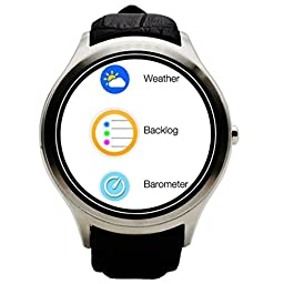 ClikWing Bluertooth Smart Watch for iOS Apple/Samsung S5/Note 2/3/4, Nexus 7, Htc, Sony and Other Android Smartphones Silver