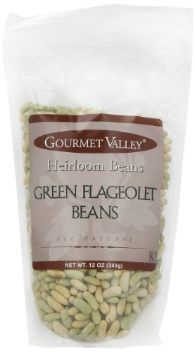 Gourmet Valley Heirloom Beans Green Flageole Beans, 12-Ounce Pouches (Pack of 6)