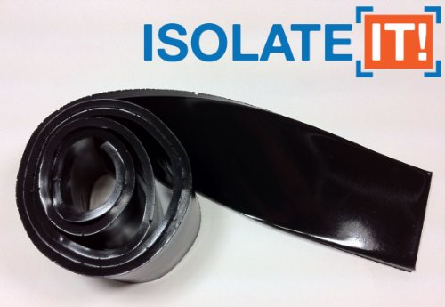 "Isolate It!: Sorbothane Strip 36"" (91.4Cm) X 2"" (5.1Cm) X 1/8"" (0.318Cm) 70 Duro - 1 Strip"