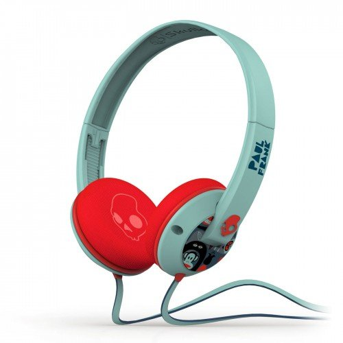 Skullcandy Uprock Paul Frank Premium Wired Headphone - Turquoise/Red