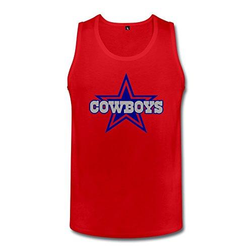 ZZY Cute NFL Team Dallas Cowboys Vest - Men's Tank Tops Red Size XXL