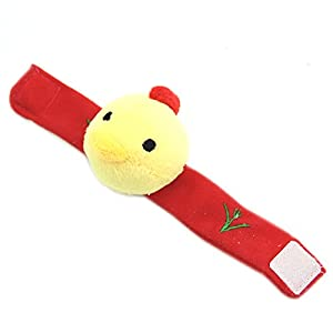 HeroNeo® 1PC Baby Infant Kid Handbell Animal Wrist Rattle Bell Musical Education Toy (chick)