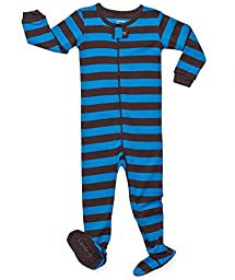 Leveret Footed (12-18 Months, Chocolate & Blue)