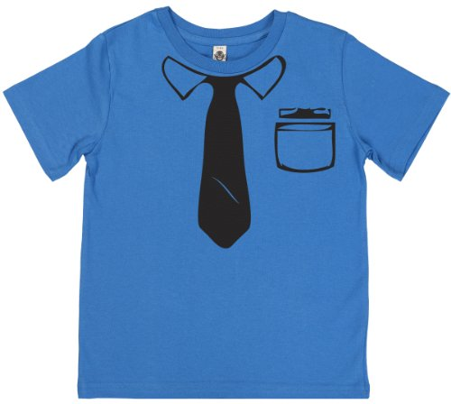 Phunky Buddha - Work Tie Unisex Kids T Shirts 9-10 Yrs - Blue back-815505