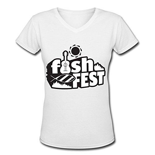 fishfest-v-neck-t-shirt-for-women-white