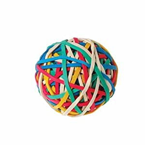 how to make a bouncy ball with rubber bands