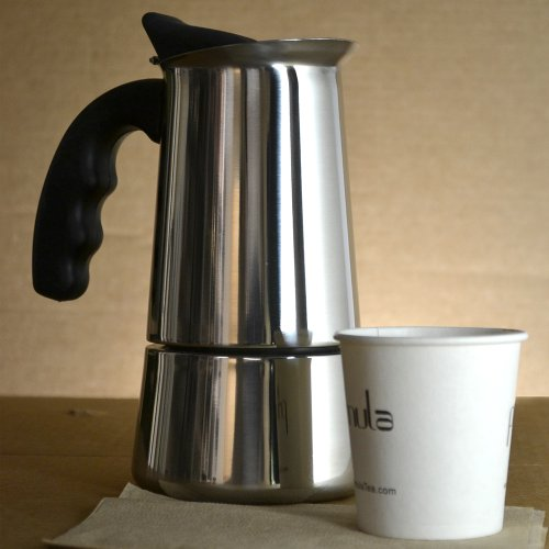 Italian Coffee Maker Stainless Steel : New Primula Stainless Steel Stovetop Espresso Coffee Maker Italian Method 6 Cup eBay
