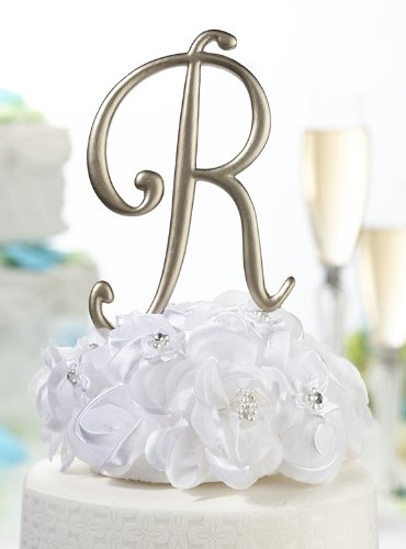 Gold Cake Topper Monogram