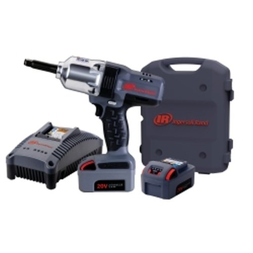 Iqv20 Li-Ion 1/2'' Drive Impact Wrench Kit - Extended Anvil With Charger And Two Batteries Iqv20 Li