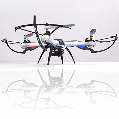 KiiToys Tarantula X6 Quad Copter with HD Camera 720p, 6 Axis Gyroscope, 4 Channels RC Radio Control, Long Lasting Battery, 3D Flip Roll, 2.4 ghz 300 ft Range