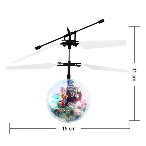 Toyzstation Flying Disco Ball RC Infrared Flyer Helicopter