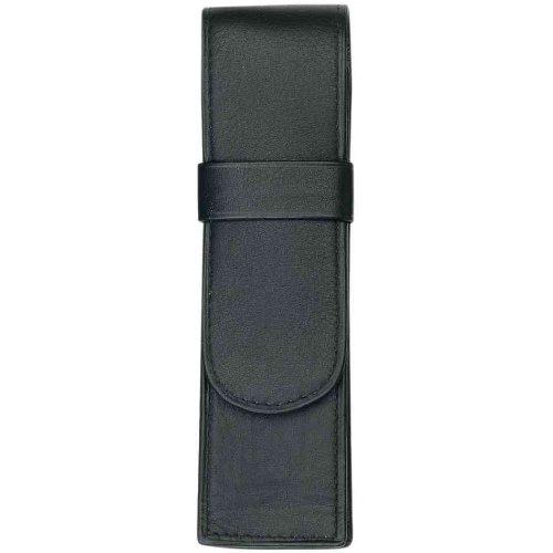 ALASSIO Etui pour 2 stylos en Cuir 150 x 45mm Vide Noir