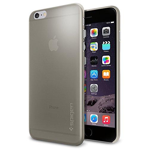iPhone 6 Plus ケース Spigen [薄さ0.4mm] エアースキン Apple iPhone (5.5) (国内正規品) (グレー SGP11158)