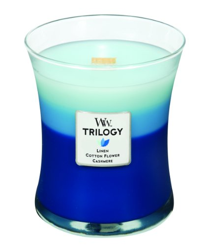 Woodwick Candle Clothesline Fresh Trilogy Medium Jar
